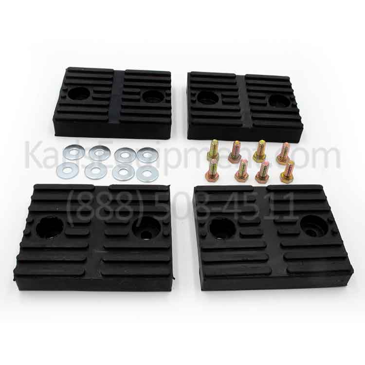 BH-7101-00-4 Set of (4) Rubber Adapter Pads with Hardware for Ammco and some Challenger Lifts